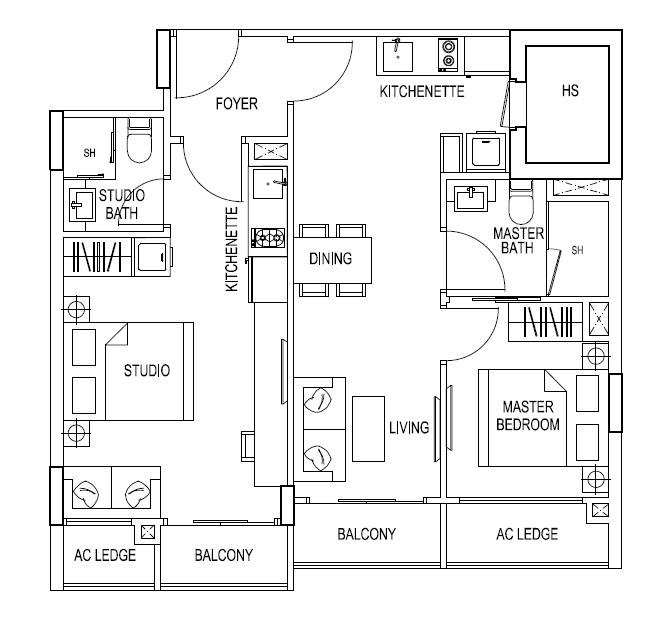 2 Bedroom Dual Key